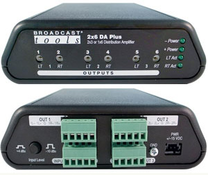 Broadcast Tools 2×6 DA Plus 分配放大器