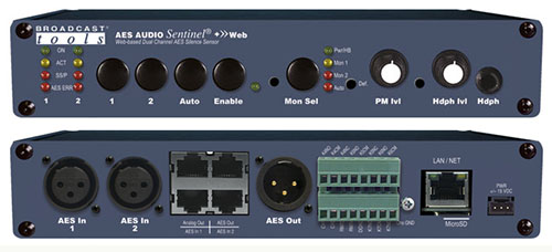 Broadcast Tools AES Audio Sentinel® +»Web