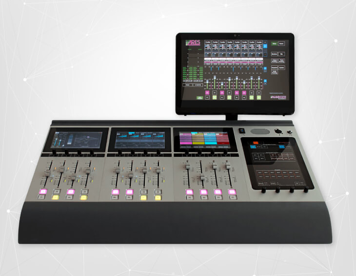 ARES - Digital on air/production mixing console